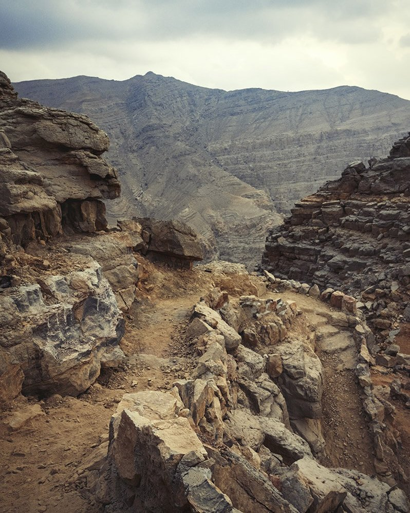 mountain path in the uae ras al khaimah