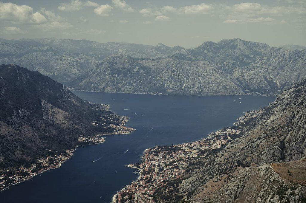 kotor bay views from horizon cafe montenegro road trip itinerary for 2 weeks