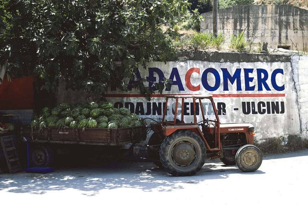 watermelons sold on the streets of ulcinj